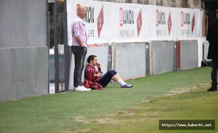 Trabzonspor'un genç yıldızı antrenmanı kenardan izledi