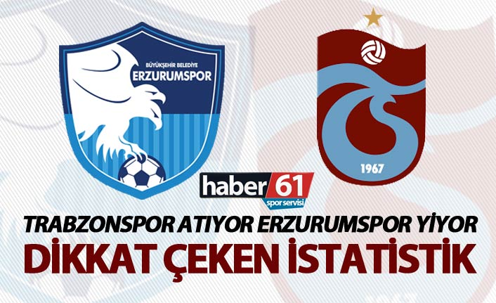 Trabzonspor atıyor Erzurumspor yiyor - Dikkat çeken istatistik