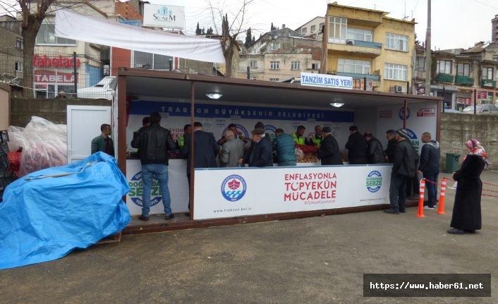 Trabzon'da üçüncü tanzim satış yeri hizmete girdi
