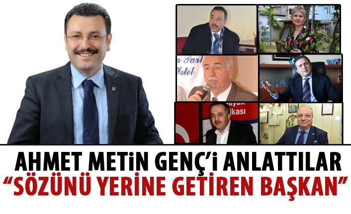 Ahmet Metin Genç belediyeciliği lazım