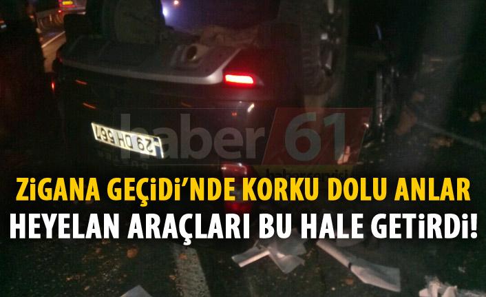 Gümüşhane – Trabzon yolunda korku dolu anlar