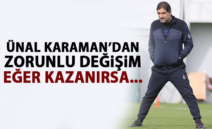 Trabzonspor'da zorunlu değişim