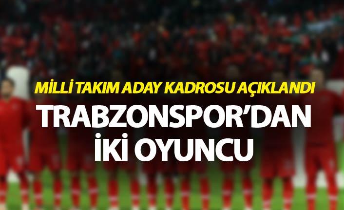 Milli Takım Aday kadrosu açıklandı - Trabzonspor'dan iki oyuncu