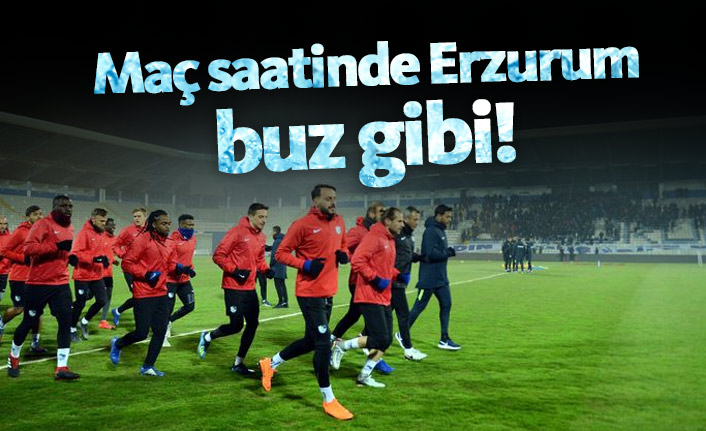 Erzurum Trabzon maçında hava 1 derece