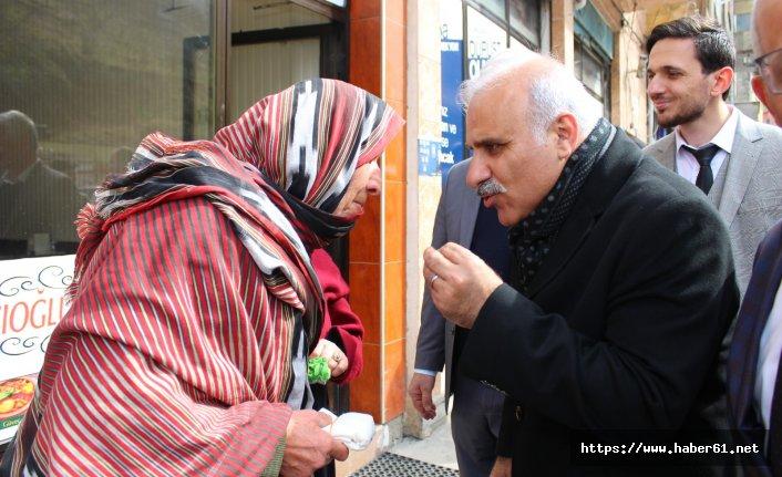 Murat Zorluoğlu Köprübaşı ve Hayrat'ta mahalleleri dolaştı
