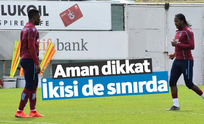 Trabzonspor'da iki futbolcu sınırda