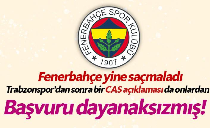 Trabzonspor'dan sonra Fenerbahçe'den de CAS açıklaması!