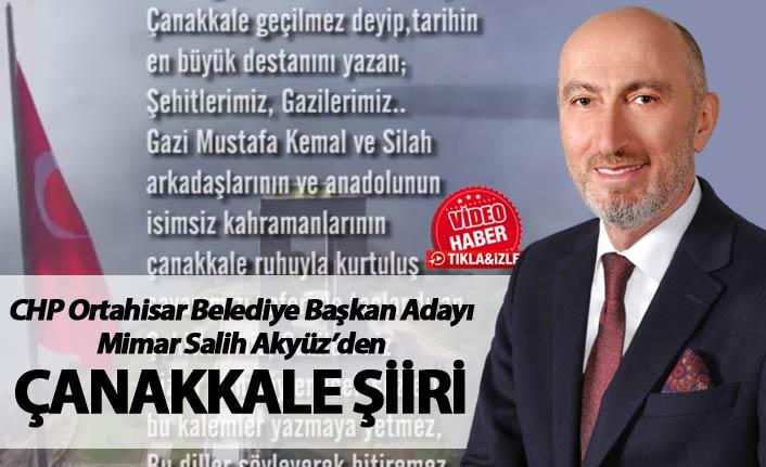Salih Akyüz'den Çanakkale şiiri