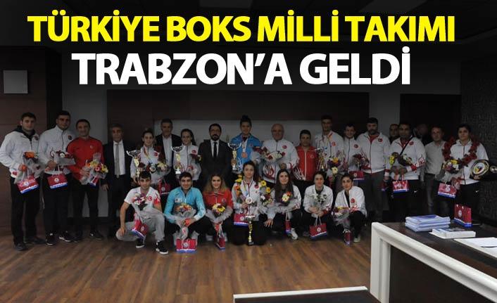 Türkiye Boks Milli takımı Trabzon'a geldi