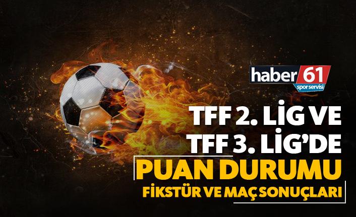TFF 2. Lig ve TFF 3. Lig'de Puan Durumu, Fikstür ve Maç Sonuçları