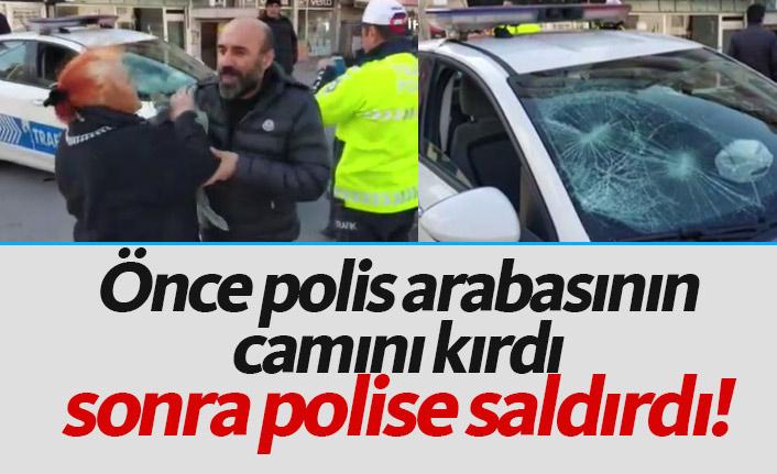 Uygulama yapan trafik polislerine saldırdı