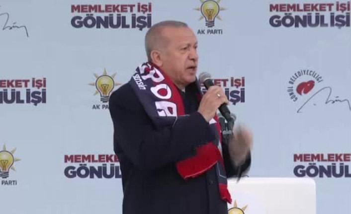 """Erdoğan """"Milli İradenin tecelli ettiği yer sandıktır"""