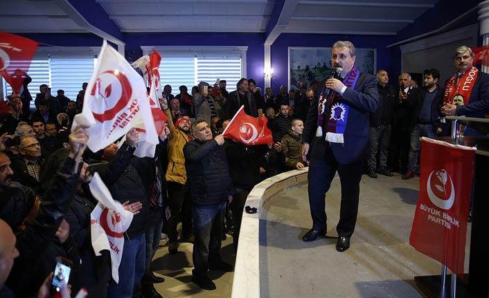 BBP Genel Başkanı Mustafa Destici, Trabzon'da