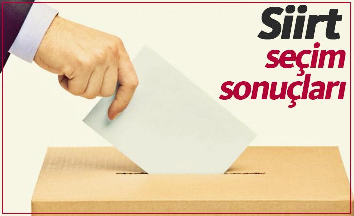 Siirt seçim sonuçları / Siirt Belediye Başkanı kim oldu?