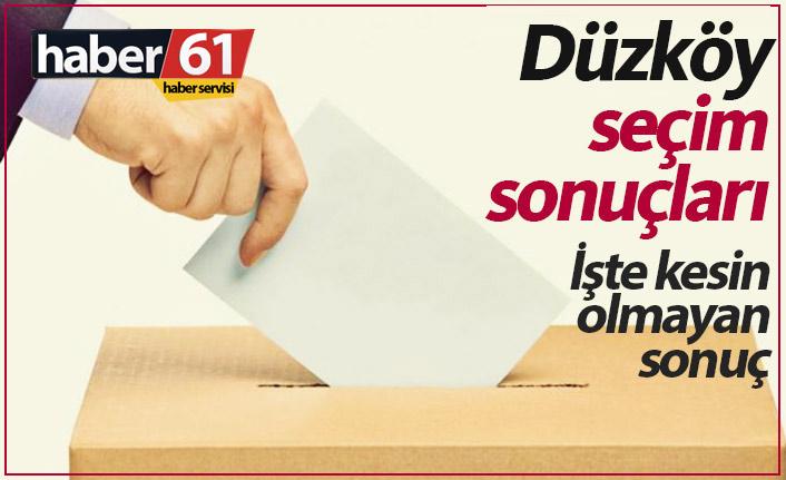 Düzköy seçim sonuçları / Düzköy Belediye Başkanı kim oldu?