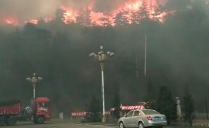 Çin'deki orman yangınında büyük acı!