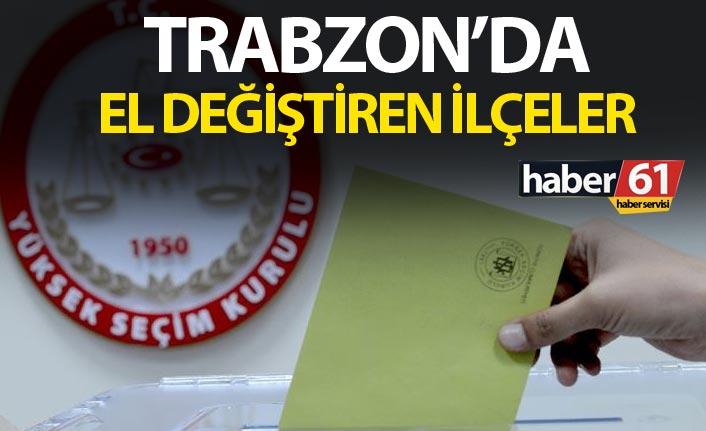 Trabzon'da el değiştiren ilçeler
