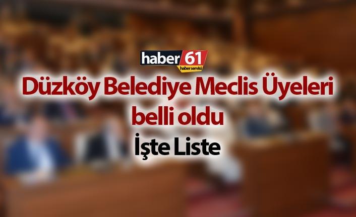 Düzköy Belediye Meclis Üyeleri belli oldu