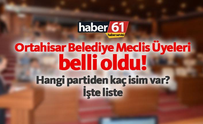 Trabzon'da Ortahisar Belediye Meclis üyeleri