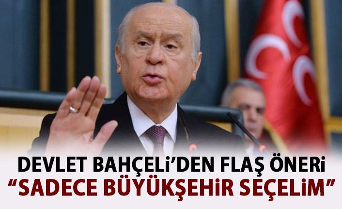 MHP Lideri Bahçeli'den Yeni Seçim Sistemi Önerisi: Sadece Büyükşehir Belediye Başkanı Seçelim