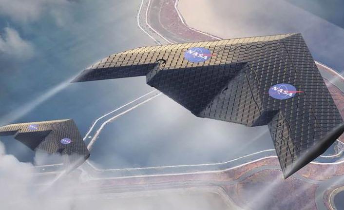 Uçuş sırasında şeklini değiştirebilen uçak kanadı