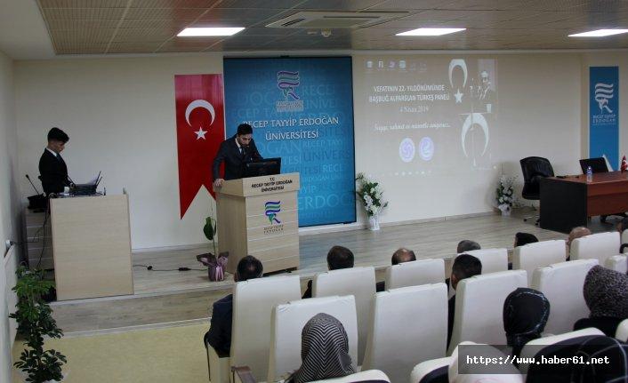 Alpaslan Türkeş Rize'de anıldı