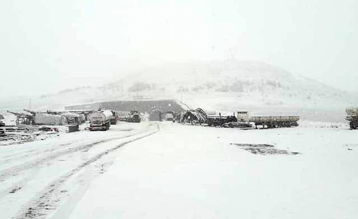 Bayburt'a ilkbaharda kar sürprizi