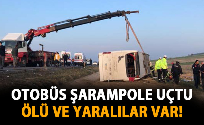 Otobüs şarampole devrildi! Ölü ve yaralılar var