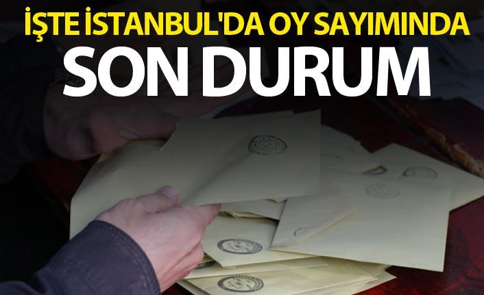 İşte İstanbul'da oy sayımında son durum