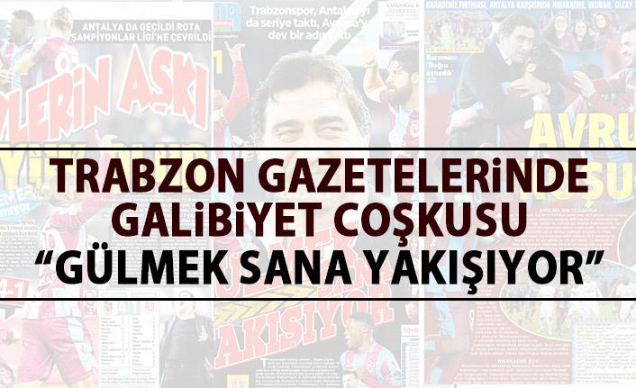 Trabzon Gazeteleri'nden galibiyet manşetleri