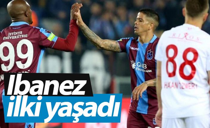 Trabzonspor'da Ibanez ilki yaşadı