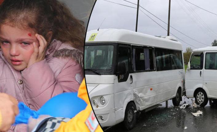 Muğla'da öğrenci servisleri çarpıştı: 4 yaralı