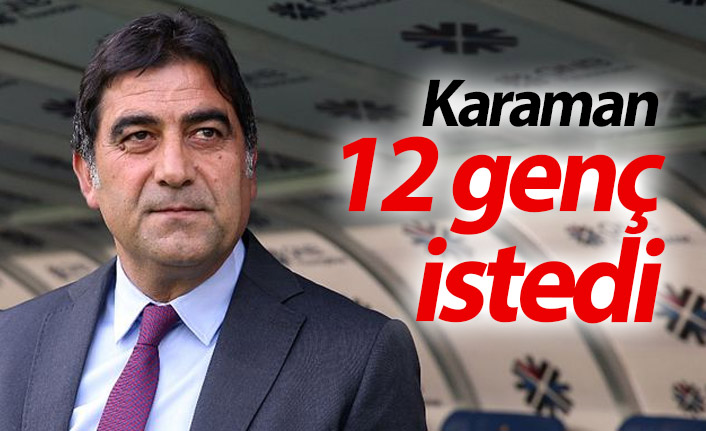 Karaman 12 genç futbolcu istedi