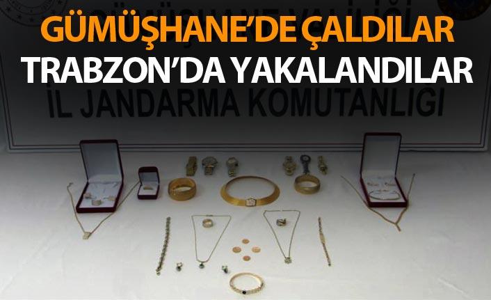 Gümüşhane'de çaldılar Trabzon'da yakalandılar