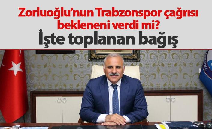 Zorluoğlu'nun çağrısında Trabzonspor'a ne kadar para toplandı?