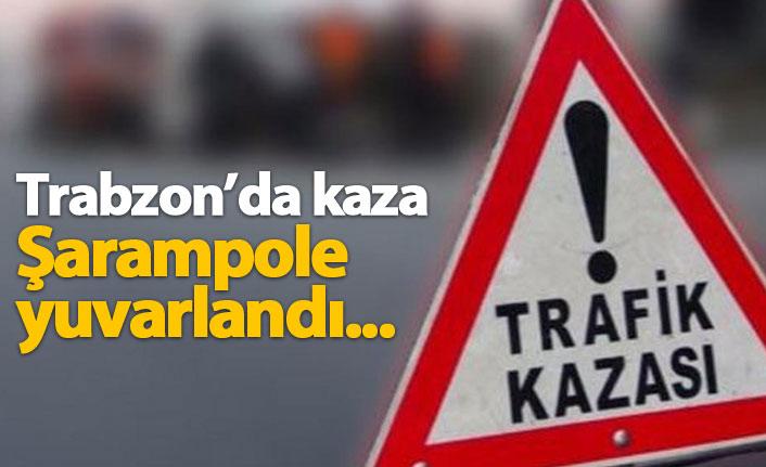 Düzköy'de kaza: 2 yaralı