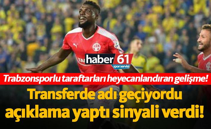 Trabzonsporlu taraftarları heyecanlandıran John Ogu gelişmesi