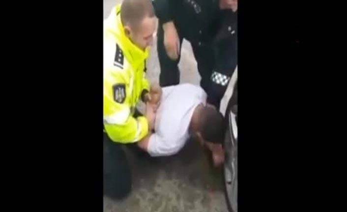 Alkollü sürücü polisin kolunu ısırdı!