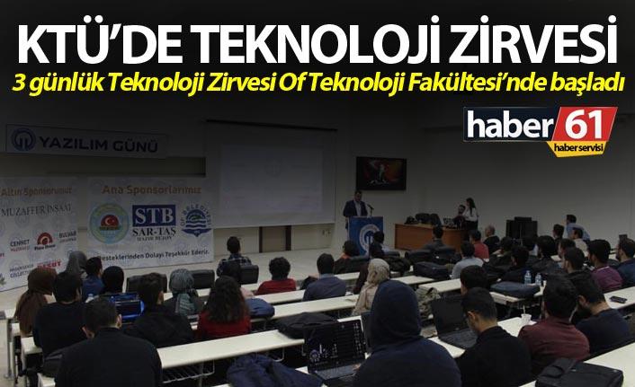 KTÜ'de Teknoloji zirvesi - 3 günlük teknoloji zirvesi Of Teknoloji Fakültesinde başladı