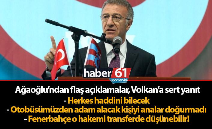 """Ahmet Ağaoğlu'ndan Volkan'a cevap - """"Otobüsümüzden adam alacak kişiyi analar doğurmadı"""""""