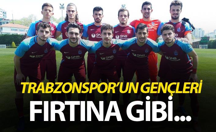 Trabzonspor'un gençleri Fenerbahçe'nin gençlerini devirdi