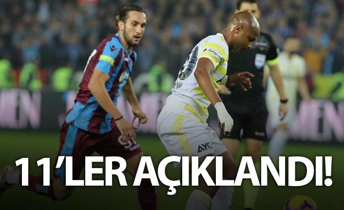 Trabzonspor ve Fenerbahçe'nin kadroları açıklandı