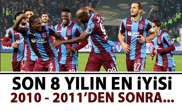 Trabzonspor son 8 sezonun en iyisi