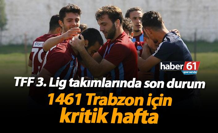 1461 Trabzon için kritik hafta!