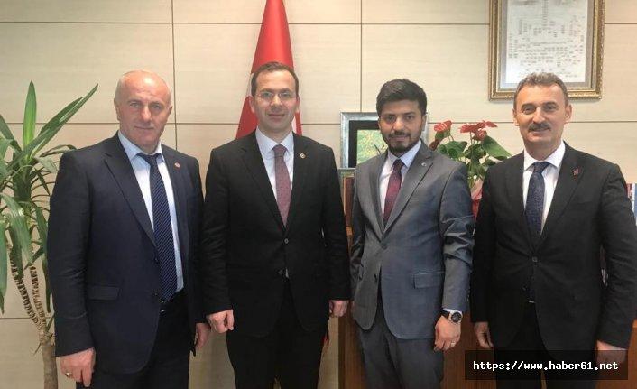 Düzköy ve Şalpazarı başkanlarından Ankara çıkarması