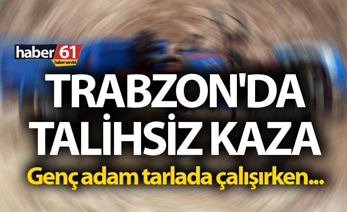 Trabzon'da talihsiz kaza - Genç adam tarlada çalışırken...