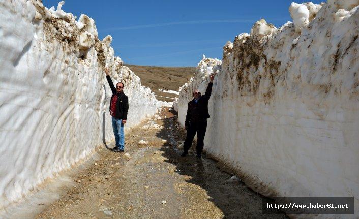 Karadeniz yaylalarında karla mücadele devam ediyor