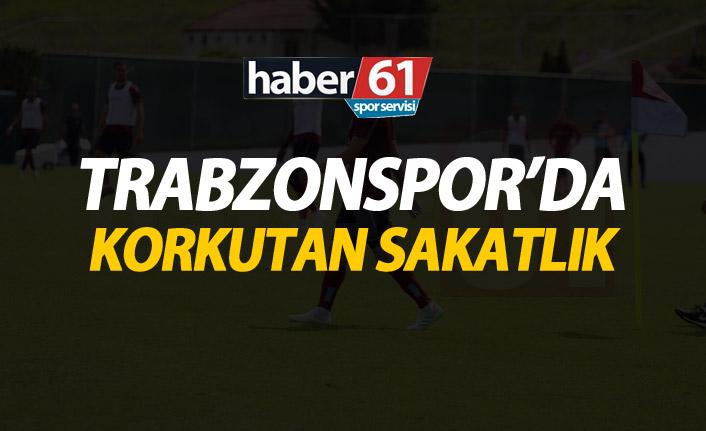 Trabzonspor'da korkutan sakatlık!