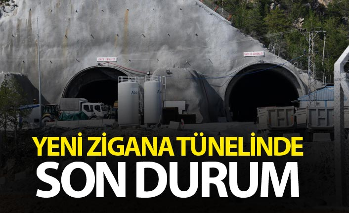 Yeni Zigana Tünelinde son durum - Yüzde 60...
