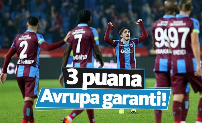 Trabzonspor 3 puana Avrupa'yı garantiliyor